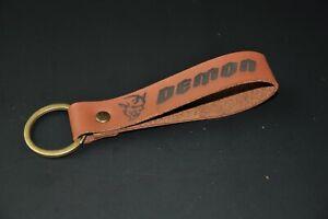 Dodge SRT Demon keychain keyring leather. Personalised keychain.