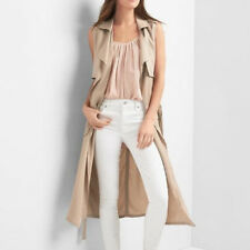 GAP NWT LONG TENCEL TRENCH VEST   M