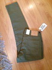 "Jack & Jones Mens W32"" L32"" Olive Green Slim Fit Stretch Jeans With Logos BNWT"