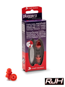 Pluggerz Motorcycle Ear Plugs Hearing Protection Road Race (23db)