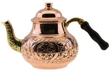 Thick 1mm Copper Stovetop Teapot Tea Kettle Pot Tin Lined Engraved,S 28Oz