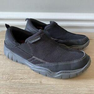 Crocs Men's Swiftwater Mesh Moc Shoes Size 13 M 202548 Black / Gray