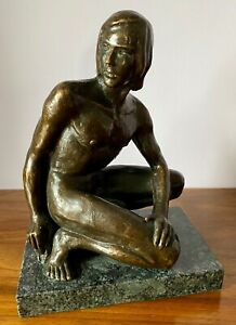 Neil Godfrey  Cast Bronze dated 2001 Gay Erotic.  Possibly of the artist himself