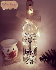 Beautiful Light Up Wine Bottle, New Home, Family, House Warming  Gift
