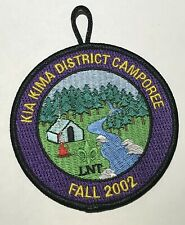 2002 Kia Kima District Camporee PAtch Mint MH4