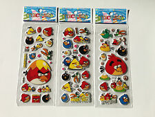 10 x ANGRY BIRDS Sticker strips -  Party Bag Fillers Birthday party favours