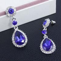 Women Crystal Vintage Drop Dangle Rhinestone Ear Stud Earrings Fashion Jewelry