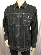 rare vintage DAMANI DADA SUPREME hip hop/urban black denim/jean jacket men's L