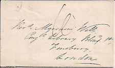 1839 PRE STAMP LETTER / ENTIRE CHESTERFIELD TO LONDON MAY REV ALGERNON WELLS