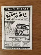More details for black & white motorways, timetable, november 1932. all services.