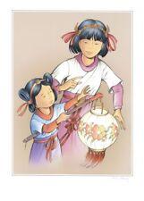 Affiche Offset Yoko Tsuno Yoko et Rosée au Lampion