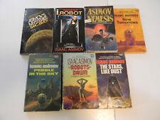 Lot of 7 Isaac Asimov vintage SF pbs A-VG