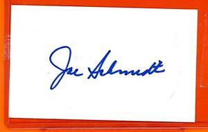 Lions JOE SCHMIDT signed 3x5 index card AUTO Autographed DETROIT HOF 🤩 📈