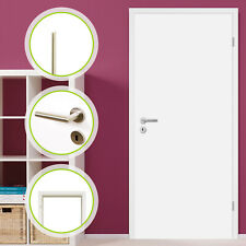 HORI Zimmertür Innentür Komplettset Weißlack Tür mit Zarge Türgriff Barcelona