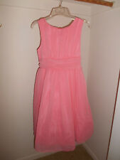 Coral Girls spring dress, sleeveless, size 16