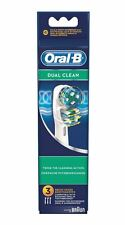 Oral-b dual Clean Replacement Electric Toothbrush 3ct Brush Heads Refill