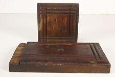 2 Vintage Architectural Salvage Wood Trim Pcs Baseboard Arts & Crafts Molding