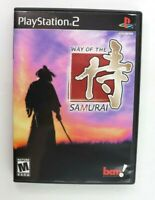 PS2 Way of the Samurai (Sony PlayStation 2, 2002) Complete Tested