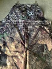 Dans hunting gear, high-n-dry bibs, Camo and insulated. Med. Short.
