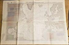 April 1972 #16 Pilot Chart Of The North Atlantic Ocean 41 x 29 W/Survival At Sea