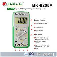 New BAKU Brand Manual Digital Multimeter Resistance Tester Model BK 9205A