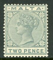 Malta 1885 QV 2p Gray Scott #10 Mint A330 ⭐⭐⭐