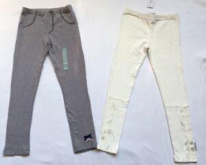 NAARTJIE Girls' Leggings, Pants, Size 6, Ivy, Cream, Gray, Silver - NEW!