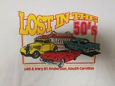 """Vintage """"Lost in the 50s"""" Anderson South Carolina Classic Car T-Shirt XL"""