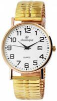 Classique Herrenuhr Weiß Gold Analog Datum Zugband Armbanduhr X2700018008