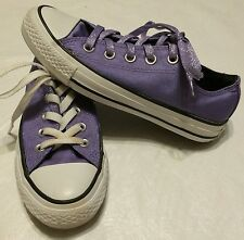 Converse All Stars Purple Sparkle Glitter Low Tops Shoes Women's US Size 5