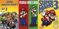 Lot of 3 Super Mario Bros 3 Mario Luigi Kart 24x36  Poster Nintendo