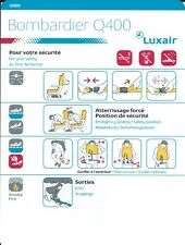 Safety Card - Luxair - Q400 - 2010 (S3955)