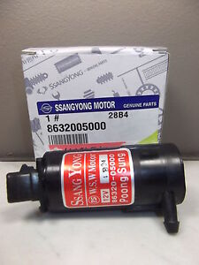 GENUINE SSANGYONG REXTON SUV PETROL & TD ALL MODEL WINDSHIELD WASHER MOTOR PUMP