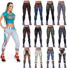 Women YOGA Workout Gym Print Sports Pants Leggings Lady Fitness Stretch Trousers