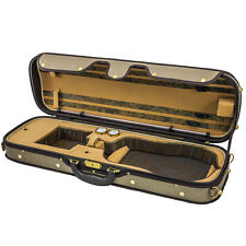 Luxury Euro-Style 4/4 Violin Case Oblong Tan/Tan, Light Brown
