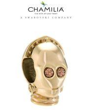 Genuine CHAMILIA 925 Silver & 14ct Gold STAR WARS C3PO Charm Bead RRP £55