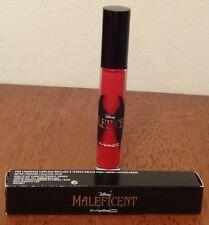 NIB MAC Maleficent Lipglass Pro Longwear Lip Gloss Anthurium (Crimson Red) .17oz