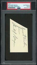 New ListingPresident Richard Nixon Signed Cut Autographed Psa/Dna Auto