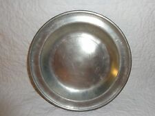 18th.c Philadelphia Pewter Plate with Love Birds Touchmark, Antique