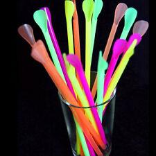 50x PP Large Spoon Straws Drinking Straw Bar Pub Slush Puppies Tableware Gifts
