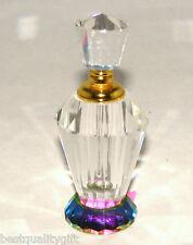 NEW PRISM CRYSTAL MULTI COLOR PERFUME BOTTLE & STOPPER