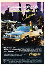 1981 Oldsmobile Cutlass Calais - Chapman - Classic Vintage Advertisement Ad D30