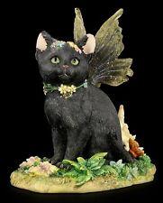 SALE! Faerie Glen Faerie Tails *MYSTIQUE* Black Fairy Cat Figurine ~ BNIB