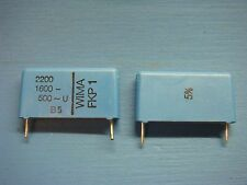 (5) WIMA FKP1 2200/1600/5 2200pF .0022uF 1600V 5% 22.5mm POLY PP FILM CAPACITOR