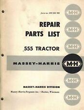 Massey Harris Vintage 555 Tractor Parts Manual Original 690 203 M2
