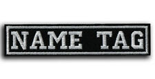 "CUSTOM Your Name Tag 4"" x 1"" Embroidered PATCH Motorcycle Biker HOOK&LOOP IRON"