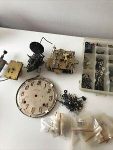 Vintage Antique Wooden Clock Parts Lot Wood Clock Gears Movement Clock Pieces (f