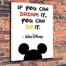 """If you can dream it you can do it Printed Canvas Picture A1.30""""x20""""30mm"""