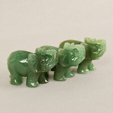 Collection Elephant Statue Hand Carved Aventurine Carved Elephant Jade Stone