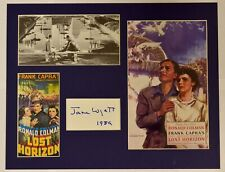 """""""Lost Horizon"""" Collage with Jane Wyatt Autograph (includes COA)"""